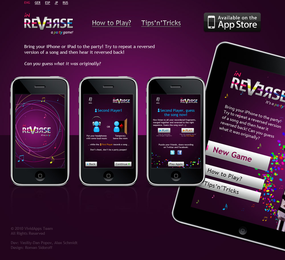inReverse — iPhone/iPad party game