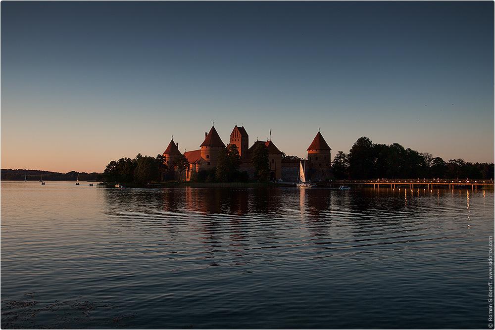 Тракайский замок в Тракае. Литва. 2014