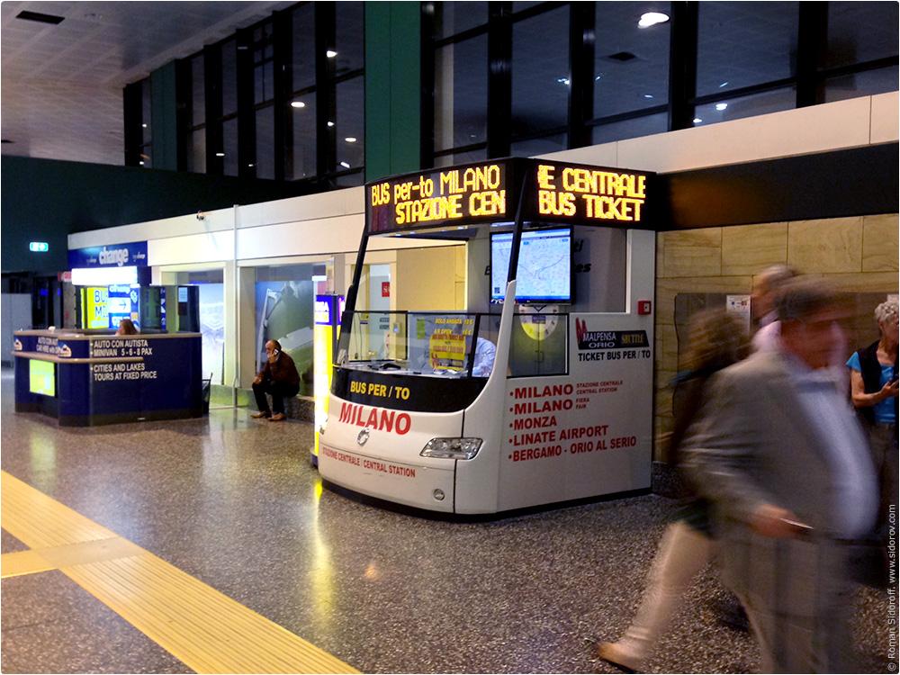 Airport Milano Malanpesa. Bus tickets.