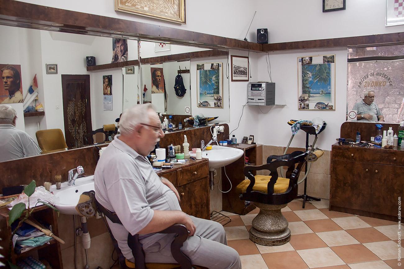 Croatia Split. Old Barber. 2014