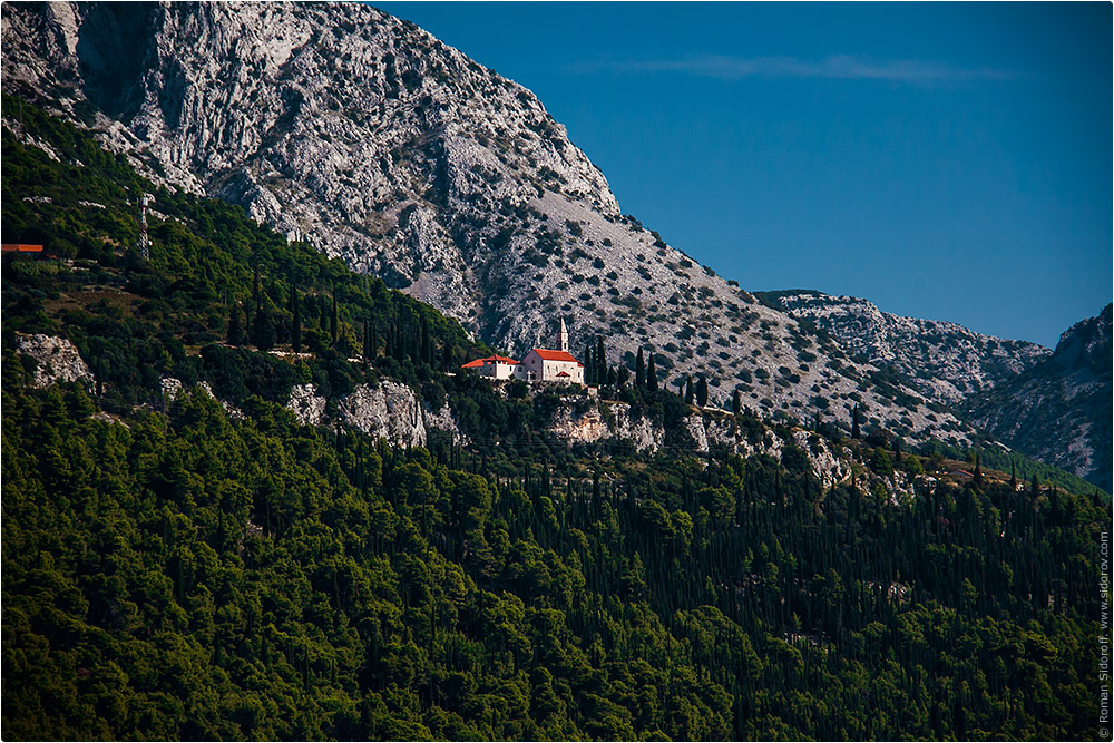 Croatia Yachting 2014. Church in the mountains.