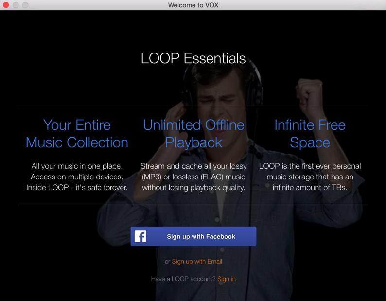 VOX + Loop музыкальный плеер и стриминг