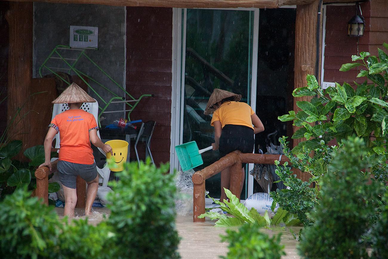 Наводнение в Ко Панган, Тайланд. Декабрь 2016